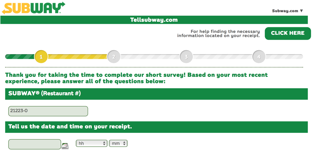 Complete The TellSubway Survey