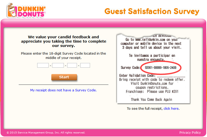 Dunkin-Donuts-Guest-Satisfaction-Survey