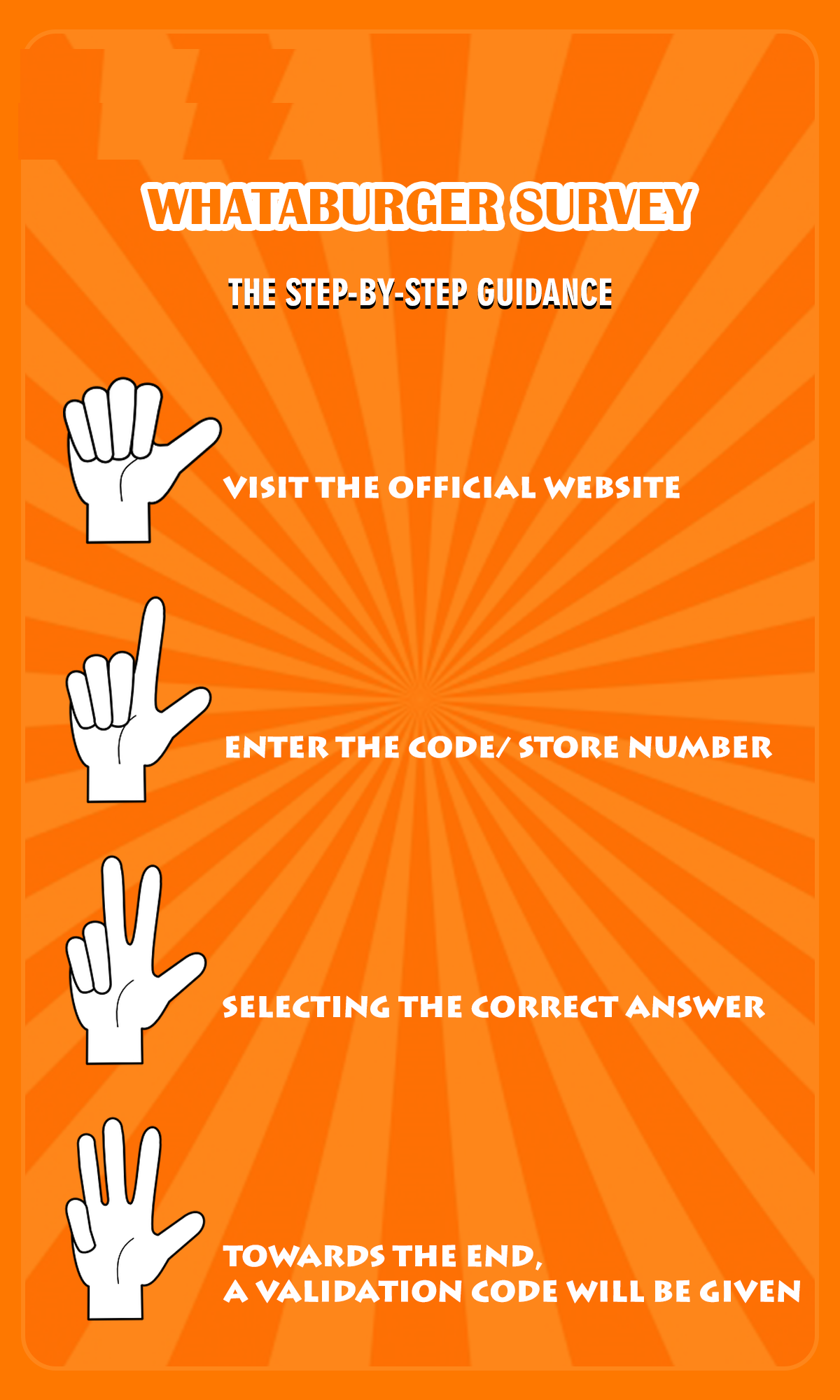 Steps of Whataburger Customer Satisfaction Survey