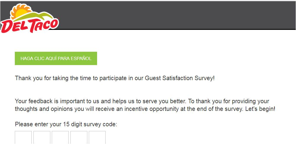 Del Taco Guest Satisfaction Survey At www.myopinion.deltaco.com; Get $1 Gift Card