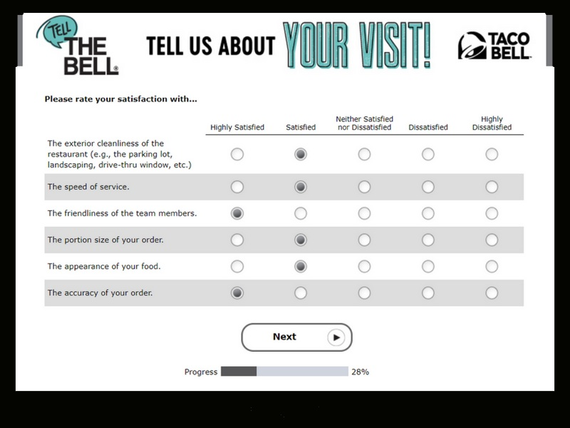 Tellthebell®: Participate Taco Bell Customer Satisfaction Survey & Feedback And Win $500