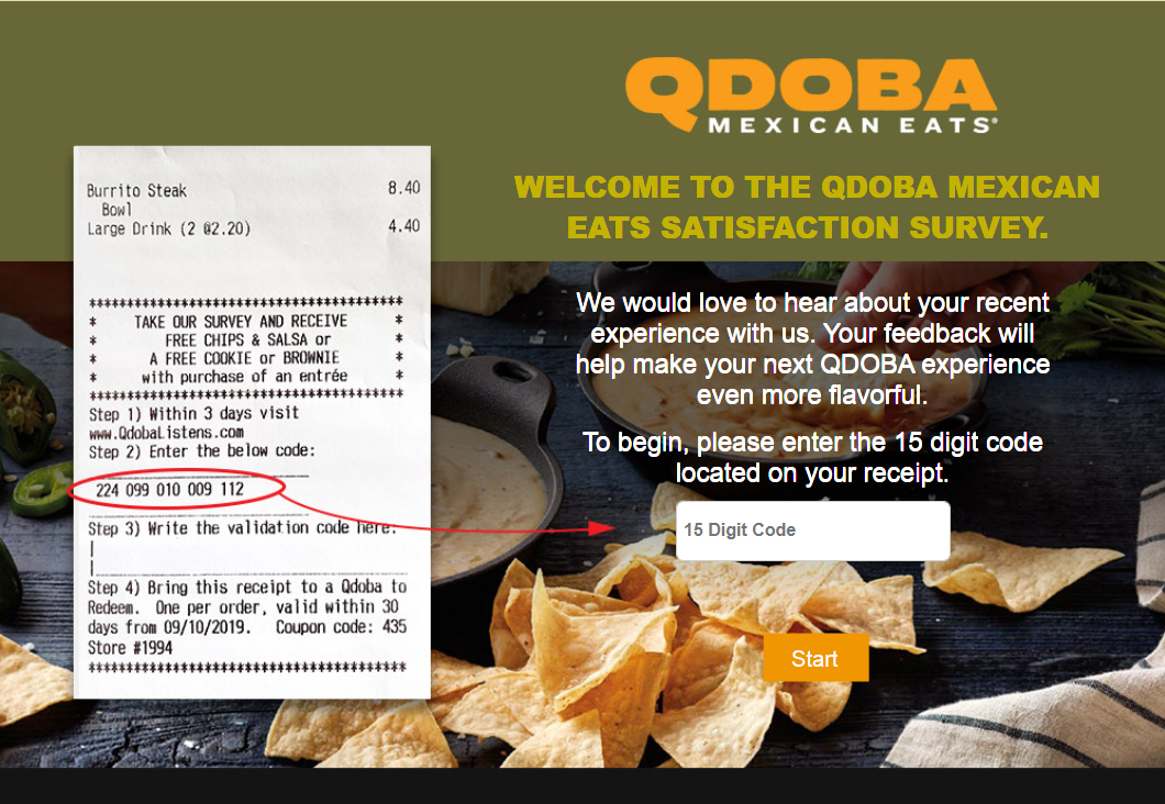 QdobaListens: Take Qdoba Mexican Grill Survey At www.qdobalistens.com And Win Free Chips & Salsa