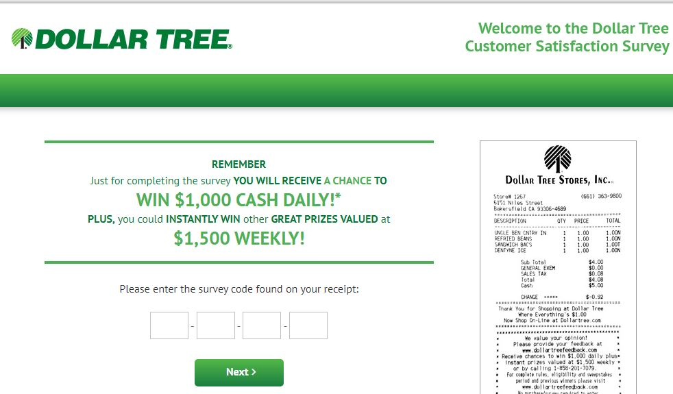 DollarTreeFeedback: Take Dollar Tree® Feedback Survey At www.dollartreefeedback.com & Win $1K Gift Card