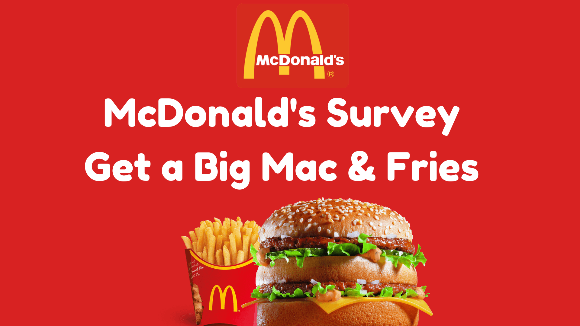 McDFoodForThoughts.Com: Take McDonalds Food For Thoughts Survey, Win Big Mac & Fries